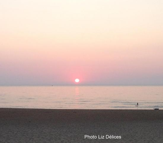 Anglet La Madrague Beach Sunset