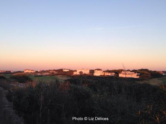Lumière rose de décembre Golf de Chiberta Anglet