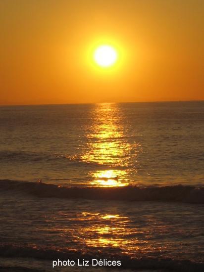 Sunset grande Plage Biarritz